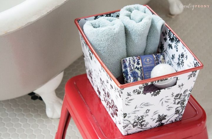 s these bloggers came up amazing organization ideas, Chic Dollar Store Storage