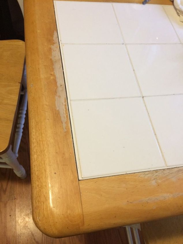 How To Paint And Redo A White Table Top Kitchen Table Hometalk