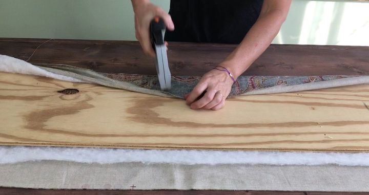s 3 great ideas to easily upgrade your window, Step 5 Staple fabric and batting to the wood
