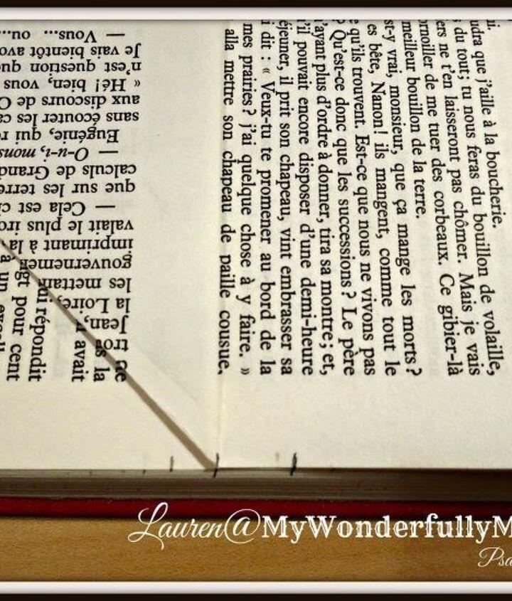 folded book art single heart