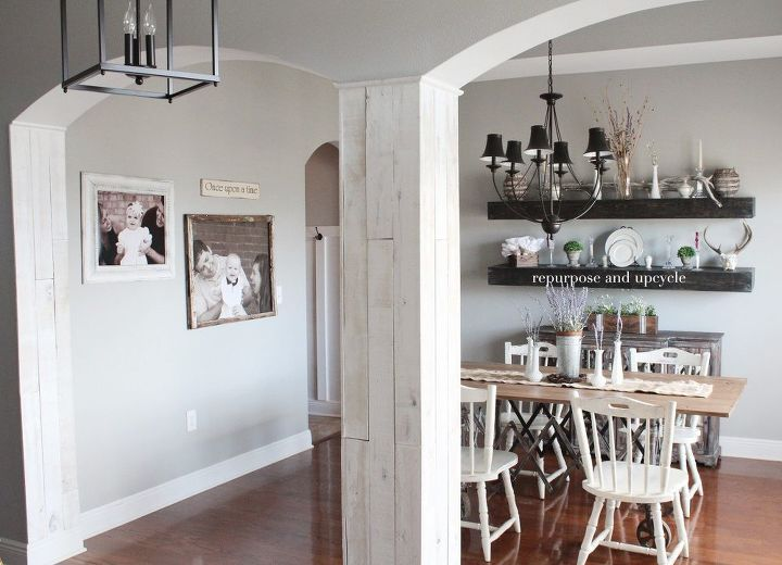 adding wood planks to our dining room and side wall