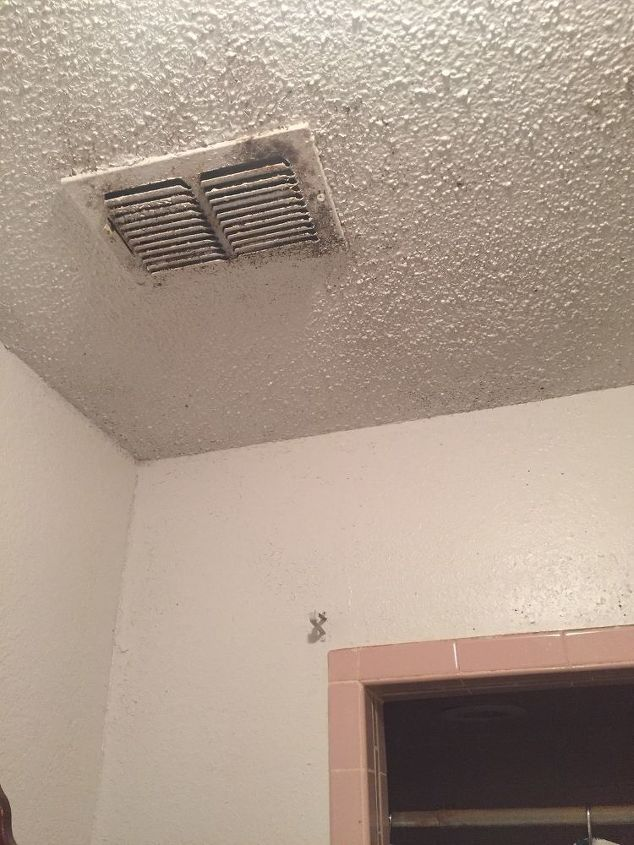 q how do i remove mold from my wall and ceiling in the bathroom