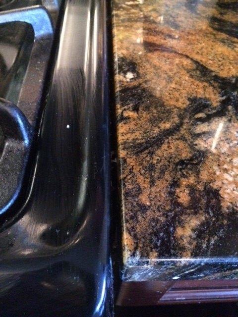 q thin gaps between granite counter and stove