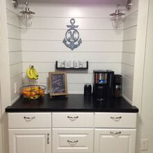 kitchen updo to coastal cottage kitchen, Completed coffee bar