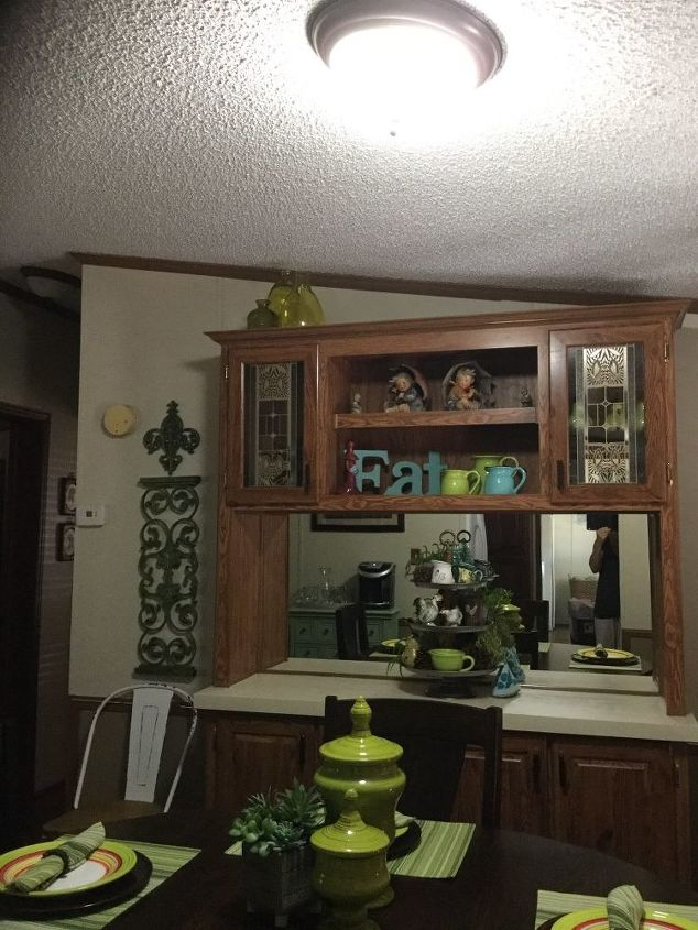 q what wall treatment to use after removing a built in hutch
