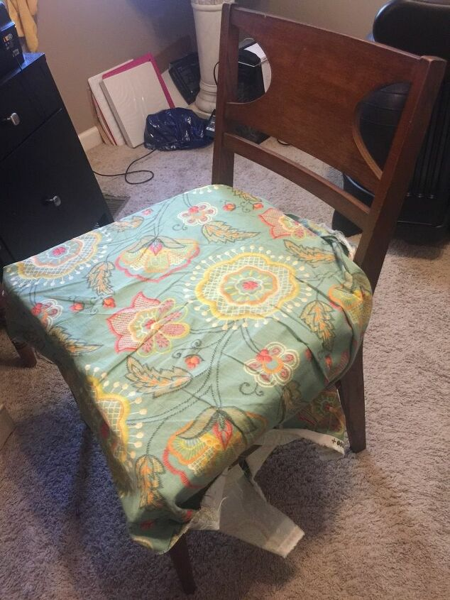 q reupholstering painting a chair