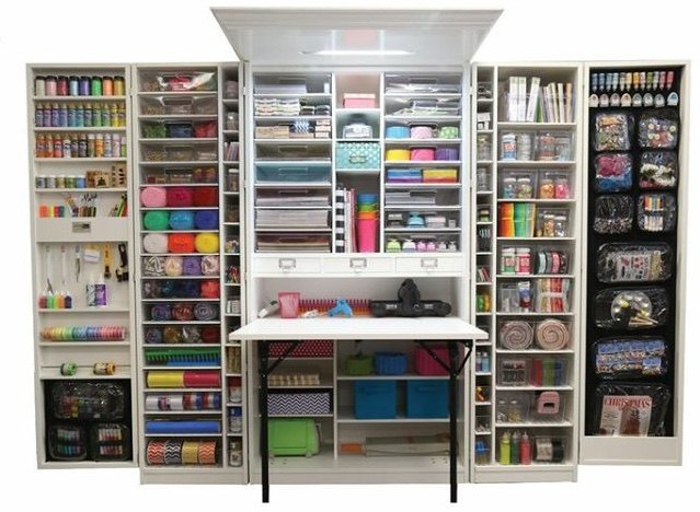 q what s the best way to redo an armoire as a craft workspace