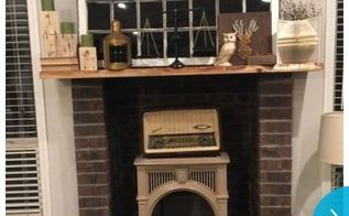 q diy makover mantle and wall