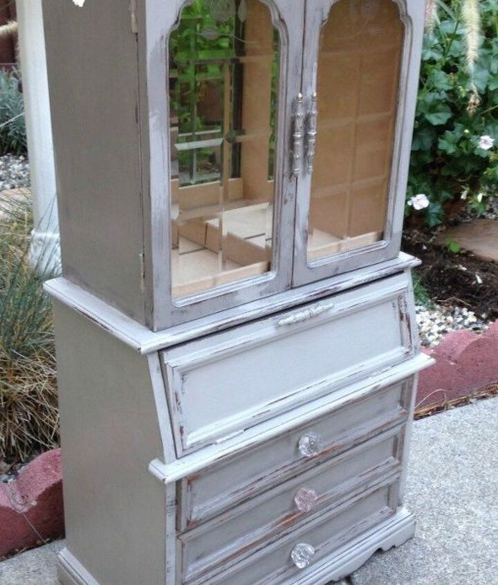 biggest thrift store jewelry cabinet makeover yet