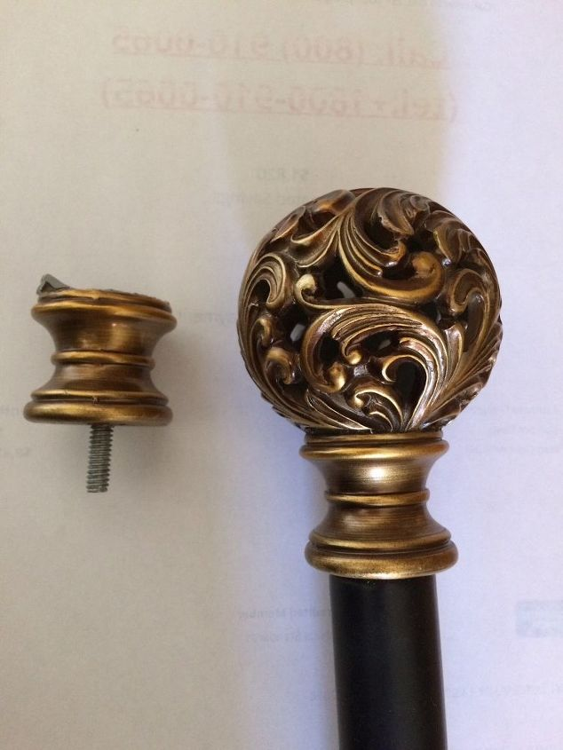 Q How Can I Remake A Curtain Rod Finial