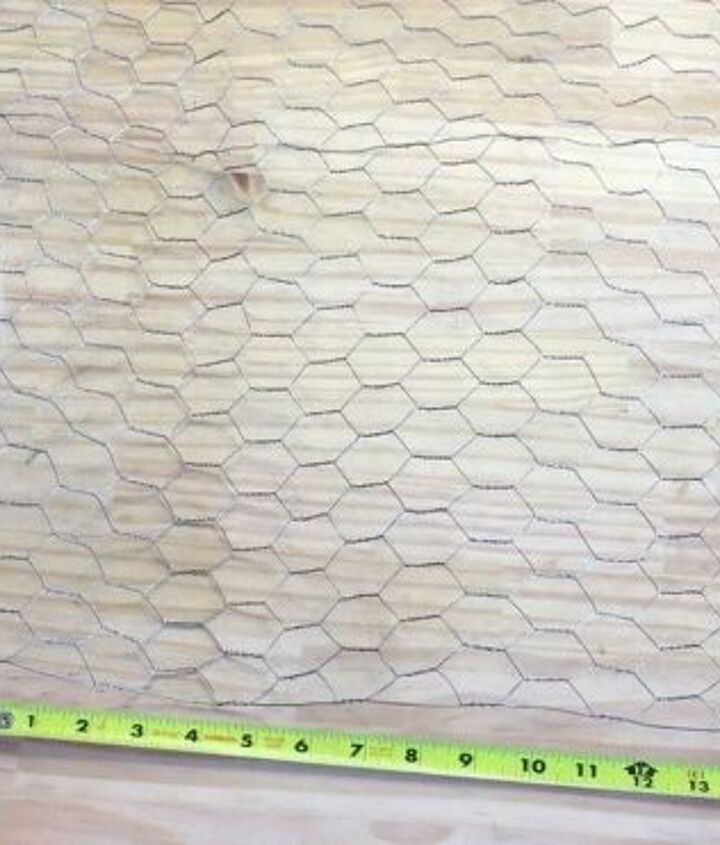 s 3 wonderful ways you can upcycle old windows, Step 3 Cut chicken wire to size for pockets