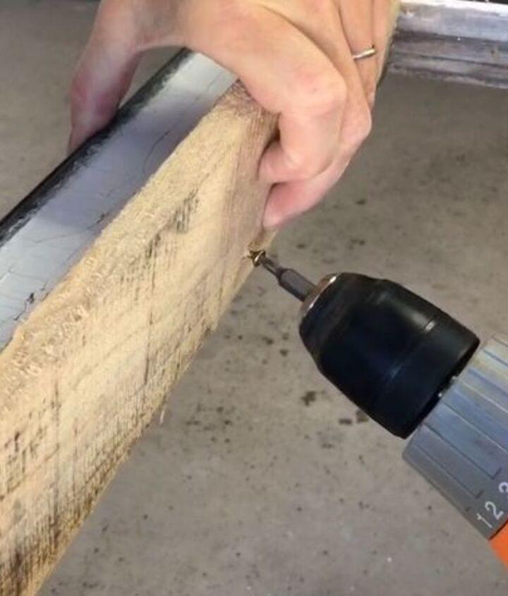 s 3 wonderful ways you can upcycle old windows, Step 5 Cut wood shelves and screw in place