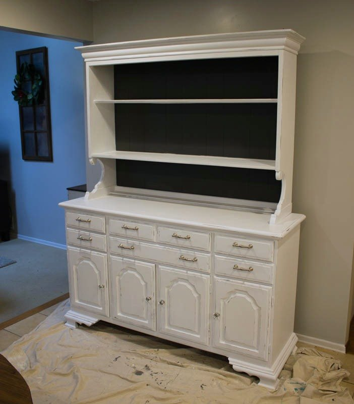 how to modernize an bulky outdated china hutch for storage