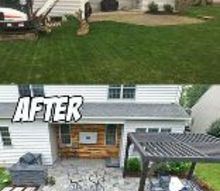 outdoor living patio area before after
