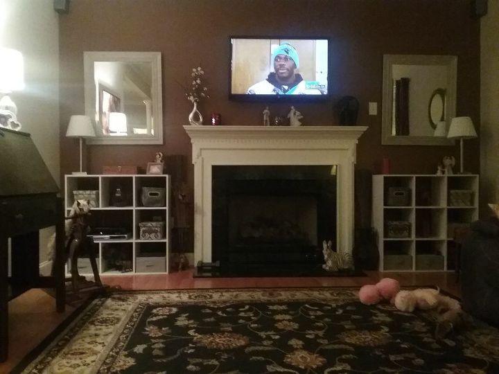 q decor beside fireplace