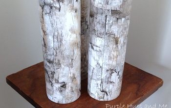 Faux Birch Bark Candleholders