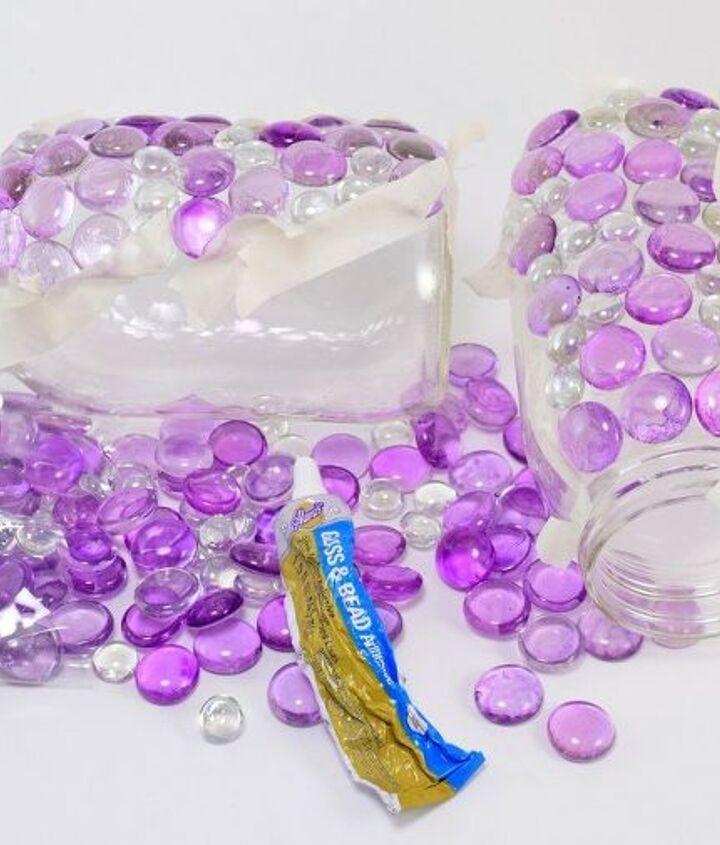 dollar store gem mason jar luminaries