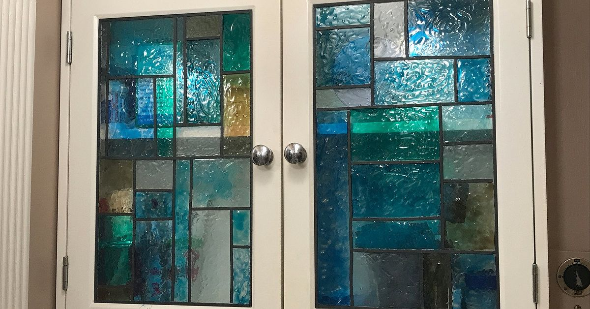 Faux Stained Glass Shower Door And Medicine Cabinet Hometalk
