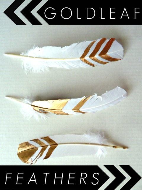 s 25 fabulous feather projects that you don t want to miss, Gold Leaf Feathers