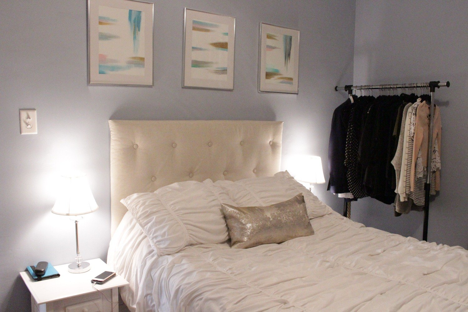 Interior Create Your Bedroom 27 gorgeous update ideas for your bedroom hometalk create own tufted headboard