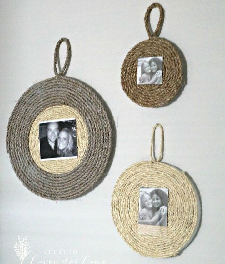 s 25 beautiful things you can make with rope twine, Rope Photo Frames
