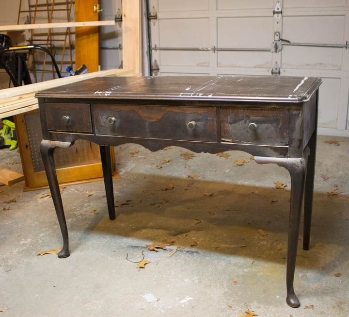 how to repair antique drawers a white writing desk makeover - How To Repair Antique Drawers - A White Writing Desk Makeover Hometalk