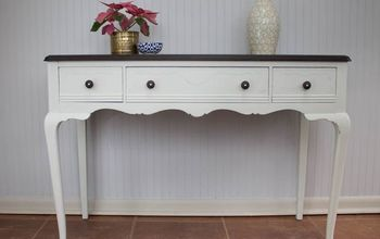How to Repair Antique Drawers - A White Writing Desk Makeover