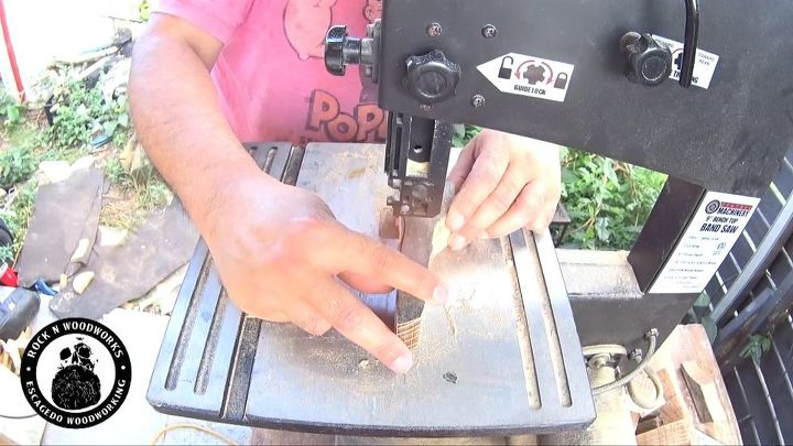 a fun diy bottle opener to make, Shaping the handle on the bandsaw