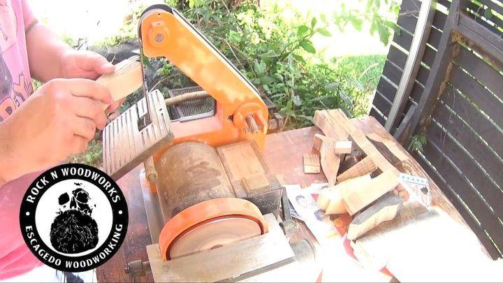 a fun diy bottle opener to make, Belt sander