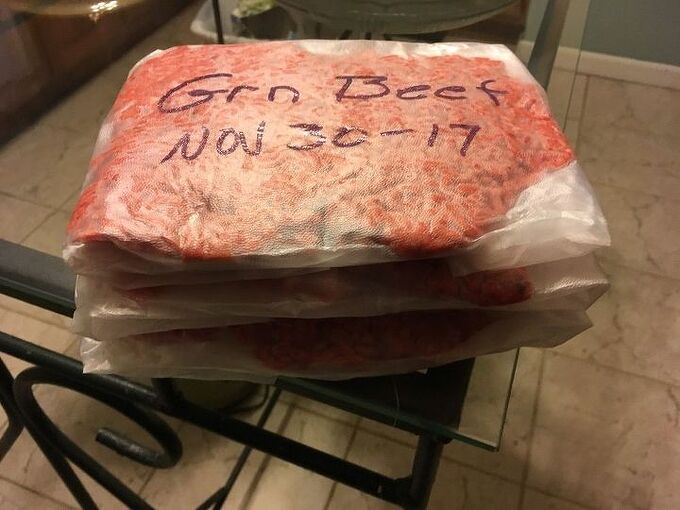 storing foods in freezer with getting freezer burn here is way that