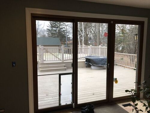 Im painting trim white should i paint all the doors white too patio doors sliding door direct sun when its out help with window treatments i did have drapes with a valance i know get rid of the valance planetlyrics Images
