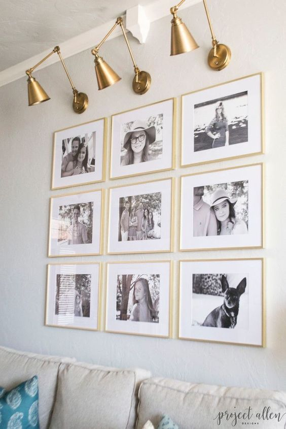 Grid Style Gallery Wall: Tricks For Creating A Stunning Feature Wall ...