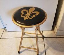 folding stool refurbish, My favorite team s colors