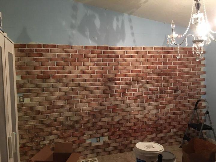 real thin brick accent wall