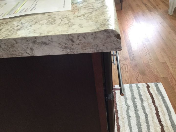 q laminate countertop chipped 4 months old help