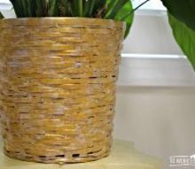 how to faux gild a basket