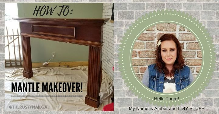 how to mantle makeover diy
