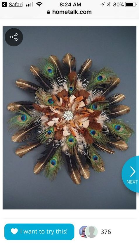 q i want to make the feather wreath