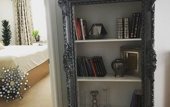 DIY Project. Upcycle Your Old Frame Into Trendy Bookshelf.