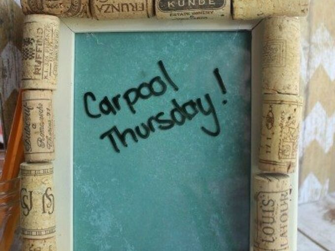 upcycle an old frame and some corks into a diy dry erase board