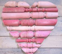 spindle and pallet wood heart