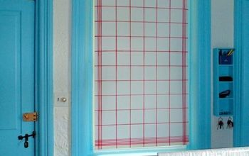 Faux Tea Towel Vinyl Blind/Shade Makeover