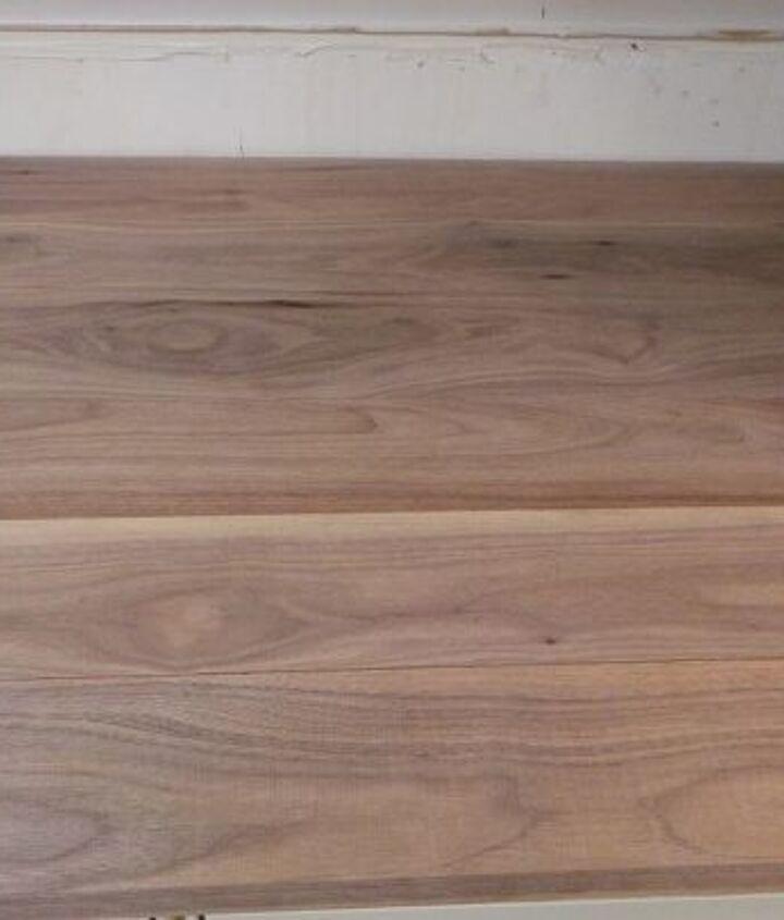 homemade walnut kitchen countertop