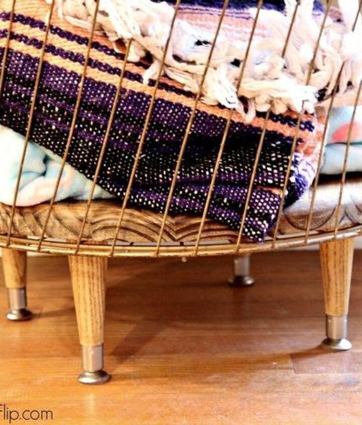 diy storage basket table
