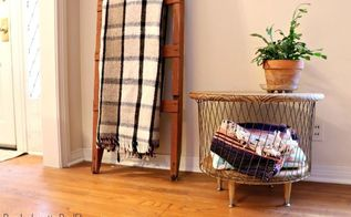 diy storage basket table