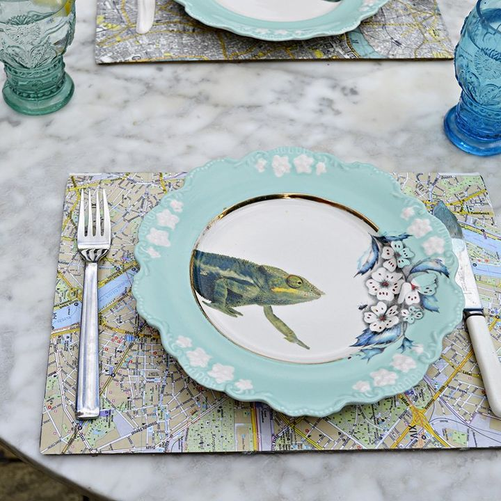 s 25 creative ways you can decorate using maps, Easy Map Table Mats