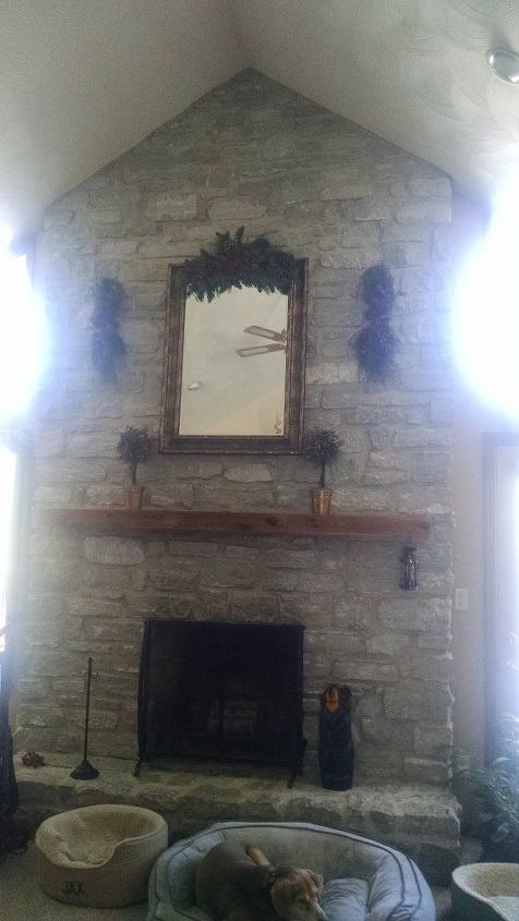 q hi i have a rock fireplace it goes up to 16 ft ideas for decoration