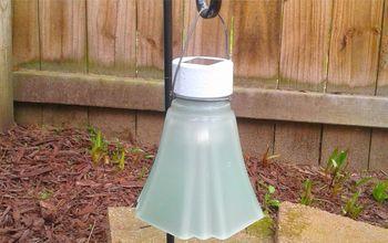 repurposed ceiling fan or chandelier lamp shades