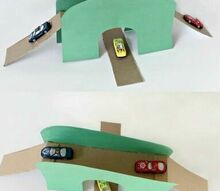 diy toy car bridge tunnel