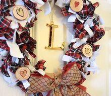 scrappy valentine s day wreath